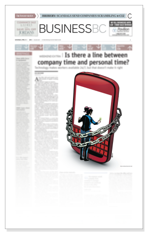 ILLUSTRATION BY MAGGIE WONG: The Vancouver Sun, April 13, 2013